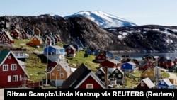 Город Упернавик на западе Гренландии