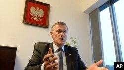 Польський прокурор Анджей Позорскі під час інтерв'ю з Associated Press у Варшаві, Польща. 13 березня 2017 р.