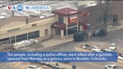 VOA60 Ameerikaa - Ten people, including a police officer, killed in Colorado shooting