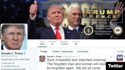 Trang Twitter của ông Donald Trump