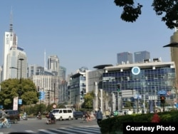 2020年3月18日上海街景 (美国之音受访者拍摄)