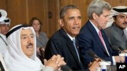 14일 바락 오바마 미국 대통령(가운데)이 걸프지역 아랍 주요 6개국 정상회의에 참석했다.