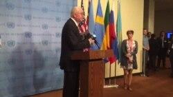 Embajador Venezuela ONU muestra fotos