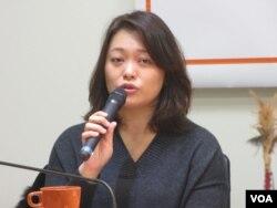 台湾在野党亲民党立委陈怡洁(美国之音张永泰拍摄)