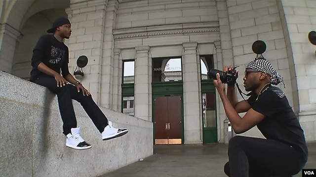 Christian Paige-Bass goes on modeling assignment with photographer Ajay Merriweather in Washington, D.C.