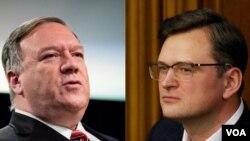 Госсекретарь Майк Помпео и Дмитрий Кулеба, министр иностранных дел Украины