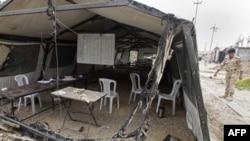 Cảnh hư hại trong trại Ashraf sau cuộc tấn công của lực lượng an ninh Iraq