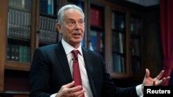 Mantan PM Inggris Tony Blair di Hallam Conference Centre, London, Inggris, 18 Desember 2019. (Foto: dok)