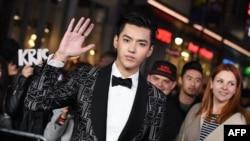 資料照:中國知名藝人吳亦凡在洛杉磯出席一部電影的首映式。 (2017年1月19日)