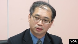 台湾经济部投审会执行秘书 张铭斌(美国之音 张永泰拍摄)