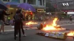 Violência nas manifestações de Hong Kong só piora