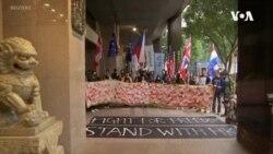 香港抗議者舉行請願遊行 呼籲國際社會向北京施壓