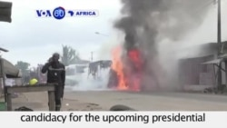VOA60 Africa - Ivory Coast President Faces Fragmented Opposition in Re-election Bid - September 11, 2015