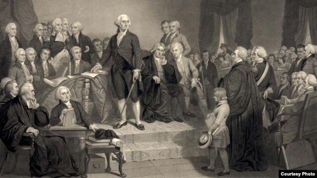 AQShning birinchi prezidenti Jorj Vashingtonning qasamyod marosimi, 30-aprel, 1789-yil