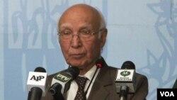 وزیراعظم کے مشیر برائے امور خارجہ و قومی سلامتی سرتاج عزیز