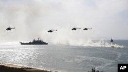 지난 9월 크림반도 흑해 연안에서 러시아 해군이 군사훈련을 하고 있다.
