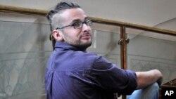 Luke Somers, asesinado en un intento por rescatarlo, posa en una foto en Sanaa, Yemen, en julio de 2013.