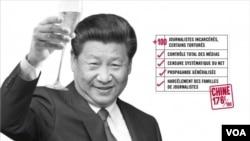 Bích chương châm biếm các lãnh đạo thế giới nhân Ngày Tự do Báo chí Thế giới