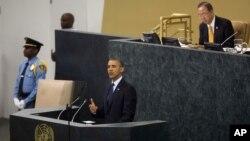 Dalam pidatonya pada Sidang Umum PBB ke-68 di New York (24/9) Presiden Obama menekankan kepada PBB untuk menegakkan larangan penggunaan senjata kimia di Suriah.