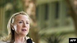 Хиллари Клинтон выступает в университете штата Гавайи. 10 ноября 2011г.