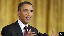 奧巴馬總統星期三於白宮記者會上回答記者問題