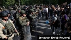 Військові Національної гвардії під час протестів біля Білого дому у Вашингтоні