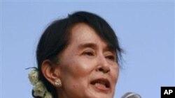 緬甸民主運動領導人昂山素姬(資料圖片)