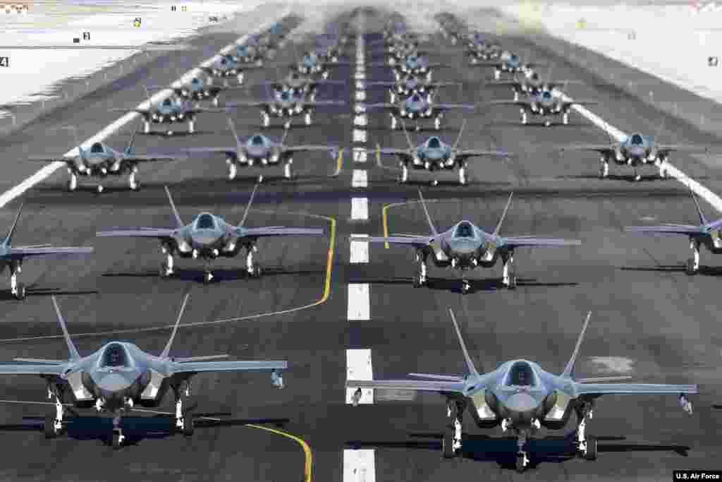 The active duty 388th and Reserve 419th Fighter Wings conducted an F-35A Combat Power Exercise at Hill Air Force Base, Utah, Jan. 6, 2020.