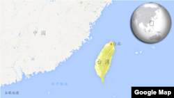 台灣地圖。