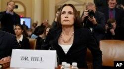 Фіона Гілл під час слухань в Конгресі 11 листопада 2019 року