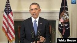 Başkan Obama yeni Küba politikasını Beyaz Saray'da açıklarken