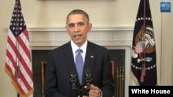 سهرۆک ئۆباما کاتی ڕاگهیاندنی ڕێبازی نوێ له گهڵ کووبا، کۆشکی سپی 17ی دێسامبری 2014