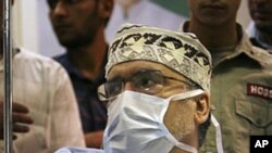 Abdelbasset al-Megrahi, who was found guilty of the 1988 Lockerbie bombing, in the Tripoli international hospital, 09 Sep 2010