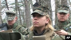 Lilly Alexei during Marine combat training in Quantico, Virginia