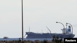 Tanker pod zastavom Severne Koreje na terminalz Es Sider u Libiji, 8. mart 2014.