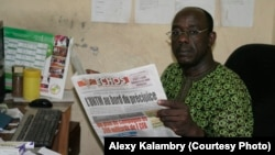 Alexy Kalambry, directeur de publication des Echos.