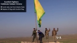 Kurdish Fighters Celebrate Kobani Victory