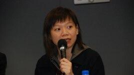香港天主教正義和平委員會幹事孔令瑜 (美國之音湯惠芸拍攝)