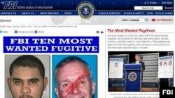联邦调查局网站通缉要犯照片显示沃尔特.李.威廉斯(右)已被抓获。(图片来源:联调局)