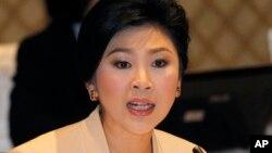 잉락 친나왓 총리 태국 총리 (자료사진)