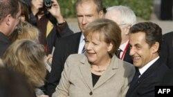 Ангела Меркель и Николя Саркози в Довиле