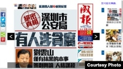 成報再發文抨擊劉雲山(成報網站截圖)