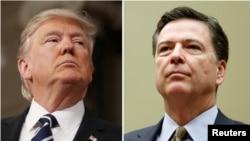도널드 트럼프(왼쪽) 미국 대통령과 9일 전격 해임된 제임스 코미 연방수사국(FBI) 국장.
