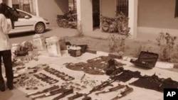 Des armes utilisées par des membres de Boko Haram