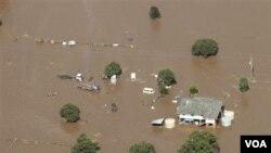 Sebuah wilayah pertanian di Queensland terendam banjir (Foto: dok).
