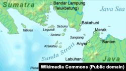 İndoneziyanın Yava və Sumatra adaları arasında yerləşən Sunda boğazı