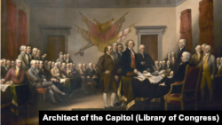 Declaration of Independence painting by John Trumbull in the United States Capitol
