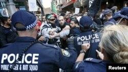 سنڈنی میں پولیس اور مظاہرین کے درمیان تصادم(ِِِفائل)