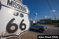 The historic Wagon Wheel Motel on Route 66 in Cuba, Missouri
