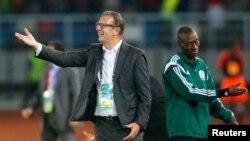 Georges Leekens, alors sélectionneur de la Tunisie, lors de la CAN 2015 en Guinée-Équatorial à Bata, le 31 janvier 2015.